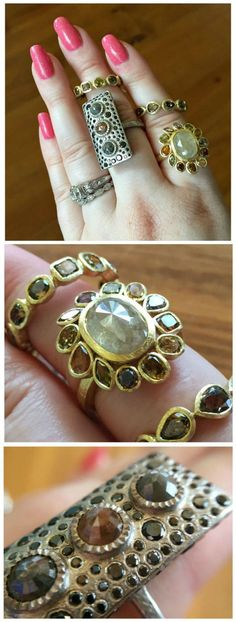 Gold and diamond rings at the Todd Reed flagship studio in Boulder, CO
