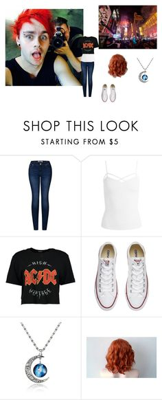"""""""date with Michael"""" by katsavy on Polyvore featuring 2LUV, Sans Souci, Boohoo and Converse"""