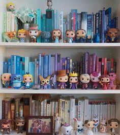 Disney Pop, Cute Disney, 17 Kpop, Bookshelves, Bookcase, Funko Pop Display, The Lunar Chronicles, Disney Bedrooms, Dream Library