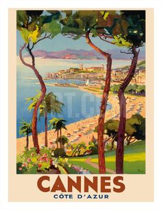 Cannes - Côte d'Azur, France - French Riviera Giclee Print by Lucien Peri at Art.com