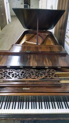 An unusual Mathushek Concert grand piano that Cunningham Piano Company restored.