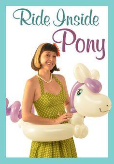 Nifty Balloons - Ride Inside Pony, Balloon-Animals.com