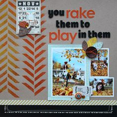 Layout by Cindy Tobey -- follow the link to see a tutorial on using the Balzer Designs Herringbone stencil with flocking!