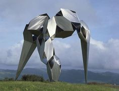 A stainless steel sculpture by Bruce Beasley from Oakland, California. To me it kind of looks like a giant insect.