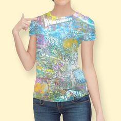 Discover «Abstract Pastel #2», Limited Edition Women's All Over T-Shirt by Jean Batzell Fitzgerald - From $49 - Curioos