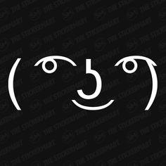 ( ͡° ͜ʖ ͡°) Lenny Face Meme Face Vinyl Decal