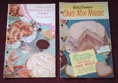 Vintage Betty Crocker Cookbooks 1950s Cake Mix Magic/Frankly Fancy Foods