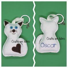 Felt Keychain, Felt Cat, Cat Decor, Food Themes, Decorations, Christmas Ornaments, Holiday Decor, Cats, Feltro