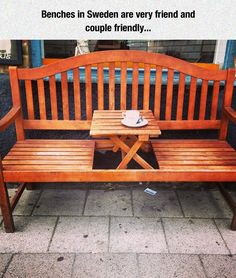 Couple Friendly Bench