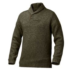 Sizes and Details Sizes: S-XXXL Material Fabrics: 80% lambswool, 20% polyamide Features - Regular fit lambswool blend sweater with a classic shawl collar - Marled yarn colours - Buttoned down at front