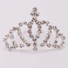 New Mini Women Lady Girl Rhinestone Crown Bridal Hair Comb Pin Tiara 002 | eBay
