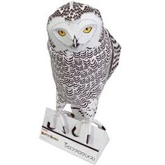 Papercraft imprimible y armable de una Lechuza Nevada / Snowy Owl. Manualidades a Raudales.