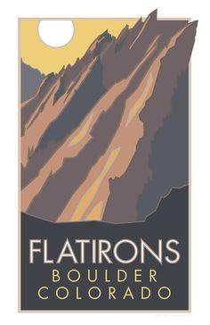Flatirons Boulder Colorado Poster Coloradoposter Boulderposter Cu