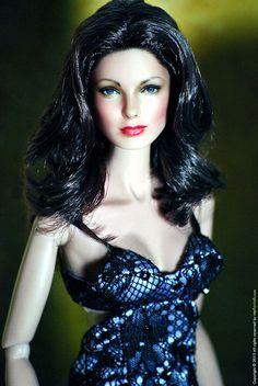 Jaclyn Smith by artist Noel Cruz of ncruz.com.  A barbie was repainted to become Charlie's Angel Kelly Garrett!