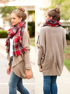 LOVE plaid scarves, perfect for any fall outfit