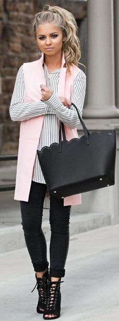 Pink + Stripes + Black