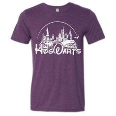 Harry Potter — Hogwarts Castle T-Shirt Funny Harry Potter Shirts, Harry Potter Hoodie, Funny Disney Shirts, Harry Potter Outfits, Travel Shirts, Vacation Shirts, Diy Shirt, Disney Outfits, Family Shirts