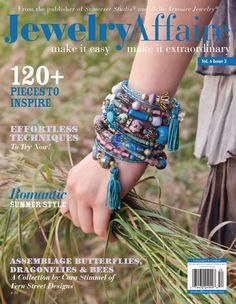 The latest Jewelry Affaire features gypsy wrapped bracelets, tiny soldered birdhouses, and assemblage butterflies.