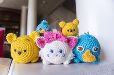 Hey guys! As promised, I've decided to post about the Disney Tsum Tsums I've been making as of late! This will be a short introductory post, and then the patterns will be posted individually for ease...