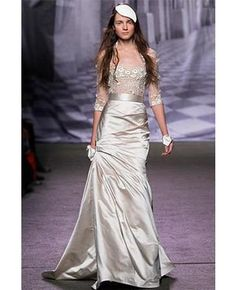 monique lhullier magical- I don't know that I'd wear this for a wedding. In a different color for a formal event, tho...