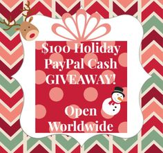 $100 Holiday Paypal Cash GIVEAWAY (Open Worldwide) #HolidayPPCash