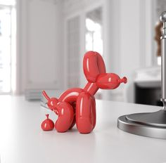POPek Pooping Balloon Dog Sculpture by Whatshisname | Clutter Magazine