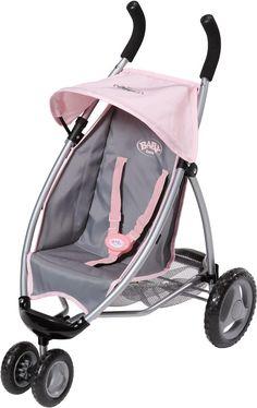 Zapf Creation 821367 - BABY born® Jogger Silber/Pink