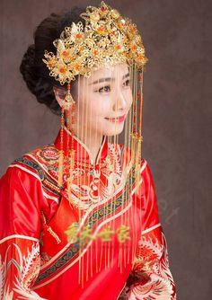 Buy Wholesale Luxury Agate Beads Tassel Phoenix Coronet Chinese ...