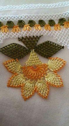Needle Lace Writing Models and Towel Edge Models, - Crochet Unique, Love Crochet, Crochet Flowers, Needle Lace, Bobbin Lace, Needle And Thread, Crochet Borders, Crochet Stitches, Lace