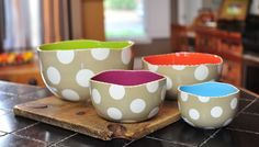 Coton Colors | Kitchen Accessories | Ceramic Mixing Bowls- Neutral Dizzy