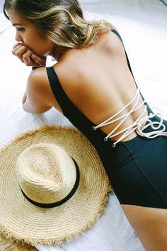 DIY Lace Up Swimsuit