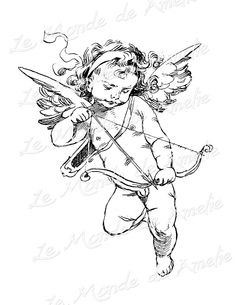 Cherub cherub angel romantic save the date love by << I want this because if Cupid exists he's taught me a lot of lessons and made me who I am today Kunst Tattoos, Tattoo Drawings, Art Drawings, Future Tattoos, Tattoos For Guys, Cupid Tattoo, Angel Art, Piercing Tattoo, Piercings