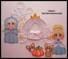 Paper Piecing for scrapbooking, die cut embellishment: Princess Set created by Paper Piecing Memories by Babs https://www.facebook.com/paperpiecingmemories.bybabs/