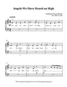 Angels We Have Heard on High, free PDF printable Christmas sheet music.