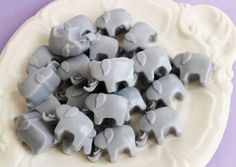 An pack of elephant-shaped mini soaps that you can use as party favors or an unexpected decoration in your bathroom. | 42 Gifts Every Elephant Lover Will Want To Get This Year