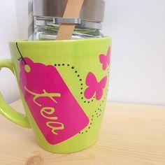 Tea Mug with Thank You Flag - Dawn Warnaar for Silhouette