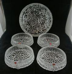 Lassi, Modern Glass, Nordic Design, Vintage Glassware, Finland, Serving Bowls, Scandinavian, Glass Art, Berries