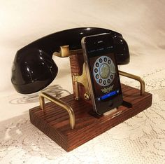 Fancy - iPhone Dock and Bluetooth Headset in Oak  - Svpply