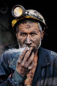 Coal Miner Smoking by Steve McCurry - Afghanistan