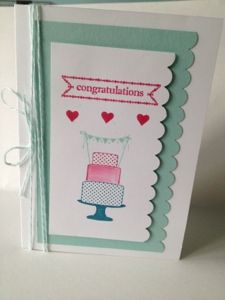 Stampin' Up! card made with Make A Cake and Itty Bitty Banners stamp sets