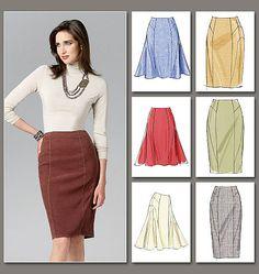 Misses Skirt Vogue Pattern 8750.
