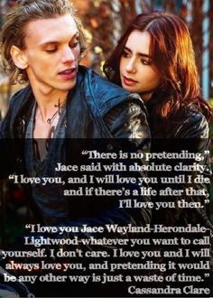 Lizz the Librarian: City of Bones Quotes - Jace and Clary, no pretending I love you. Book not STUPID movie! Mortal Instruments Zitate, Mortal Instruments Quotes, Immortal Instruments, Shadowhunters The Mortal Instruments, Shadowhunters Clary And Jace, Clary Und Jace, Jace Lightwood, Clary Fray, Bones Quotes