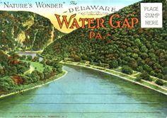 Philadelphia Trolley Tracks: Delaware Water Gap postcards