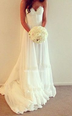 Sweet heart non-lace antique style wedding dress