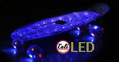 CALI Strong LED Light Skateboard with LED Light Wheels brings the retro back. A banana board with a rechargeable LED illuminated deck. Penny Skateboard, Skateboard Wheels, Power Led, Skateboards, Cali, Strong, Skateboard Decks, Skateboarding, Skateboard