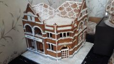 Not sure who made this, saw it on Facebook as part of a community campaign to save Upper Norwood Library in Crystal Palace, South London.  What a beautiful work of gingerbread art! South London, Crystal Palace, Gingerbread, Campaign, Community, Facebook, Crystals, Cake, Creative