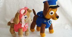 CANAL CROCHET: Patrulla canina amigurumi It's iin Spanish, but I like the look of the dogs :) Amigurumi Tutorial, Amigurumi Patterns, Amigurumi Doll, Crochet Patterns, Crochet Crafts, Crochet Dolls, Crochet Projects, Crochet For Kids, Crochet Baby