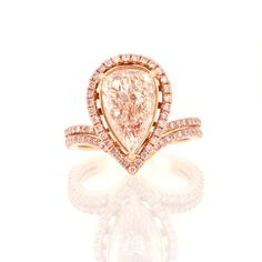 Fancy Brownish Pink  Diamond Ring