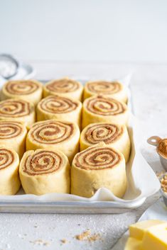 Brown Butter Cinnamon Rolls with Brown Butter Cream Cheese Frosting — Cloudy Kitchen Brown Butter, Brown Sugar, Croissants, Butter Cream Cheese Frosting, Frosting Recipes, How To Make Bread, Cinnamon Rolls, Baked Goods, Sweet Treats