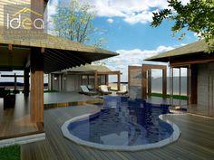 Para quem possui muito espaço uma solução bacana para piscina é inserir a sauna integrada com a piscina. Neste caso a ideia foi possibilitar o acesso direto da sauna para o interior da piscina. Além da cascata linda ao fundo. #ProjetoDeAutoriaDoEscritórioIDEAArquitetura# (66) 3405 2145 ou (66) 9 9998 6804